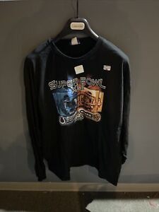 SUPER BOWL XLI Black Long Sleeve Tee Shirt bears colts Game Only XXL Reebok