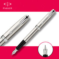 Perfect Parker Stainless Steel Silver Sonnet Series 0.5mm Fine Nib Fountain Pen