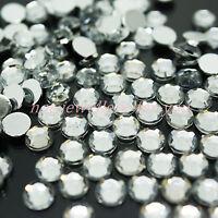 1000 Crystal Diamante Rhinestone Gem Clear Silver Back Acrylic Nail Art Craft