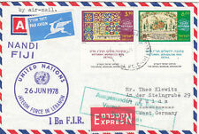 UNITED NATIONS 1978 FORCES IN LEBANON SENT FROM ISRAEL EXPRES COVER RRR