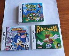 Sonic Rush, Rayman DS, Yoshi Touch & Go  3 DS Games With Cases and Manuals VGC