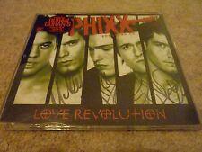 Phixx - Love Revolution - Enhanced 4 Track CD Single - SIGNED! Popstars