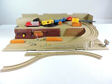 HOT WHEELS Sto & Go Railroad - Freight Yard train set 1983 Mattel INCOMPLETE vtg