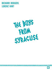 Boys from Syracuse Rodgers & Hart Complete Vocal Score Piano Sheet Music