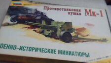 1/35 zvezda Mk-1 anti tank gun russian made nib kit
