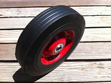 "NEW 10"" SOLID WHEEL RUBBER WAGON HAND TRUCK DOLLY BARROWWHEEL FLAT FREE"