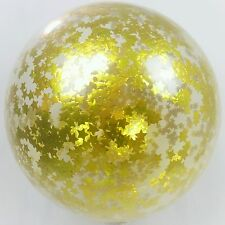 Set of 2 Confetti Balloon Giant jumbo Gold Star 60cm clear latex