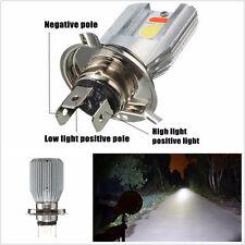 12V H4 COB LED 3-Color Hi/Lo 12W Motorbike Headlight Fog Sopt Light Super Bright