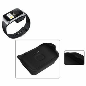 Black Charging Dock Charger Cradle For Samsung Galaxy Gear Live Smart Watch R382