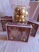Mixed Lot of over 100 GLASS CHRISTMAS TREE ORNAMENTS