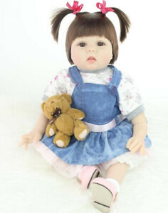 22'' Reborn Dolls Doll Look Real Realistic Soft Silicone Baby Xmas Gift