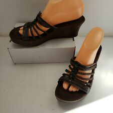 Montego Bay Club Slip On Strappy Wedges Sz 8.5