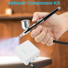 Mini Portable Airbrush Compressor Set Tattoo Nail Art Art Painting Gravity Feed
