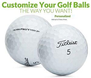Custom Printed Text or Logo Titleist Pro V1 2016 Golf Balls 1 Dozen