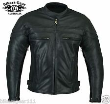 NEW STURGIS LEATHER MOTORCYCLE JACKET ZIP OUT LINER ARMOUR BRASS ZIP SIZE Large