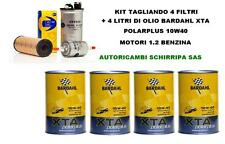 KIT TAGLIANDO FILTRI + OLIO BARDAHL 10W40 RENAULT CLIO 2 TWINGO 1.2 1.4 BENZINA