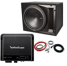 "Rockford Fosgate Punch P1-1x10 10"" Enclosed Subwoofer + R500X1 Amplifier + Kit"