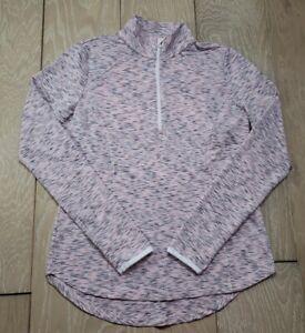 Zero Restriction Vented 1/2 Zip Mock Polo Pullover Shirt PINK Medium MSRP $110