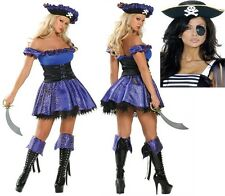 5Pc First Mate par Roma Costume UK 8-10 robe fantaisie poule nuit Pirate Halloween