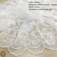 Embroidered Cotton Lace Edge Trim Fabric Tulle Mesh Craft Ribbon Sewing ZAIONE