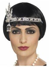 1920's Headband Jewel Flapper Silver Headpiece Gatsby Charleston Costume