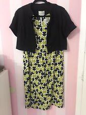 Karin Stevens Green Black And White Dress - Size 6