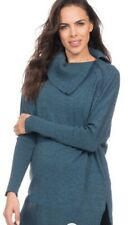 New Seraphine Maternity & Nursing Roll Neck Jumper In Teal Size XS 6-8UK