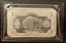 1 Oz .999 Pure Silver Bullion Bar — Buffalo