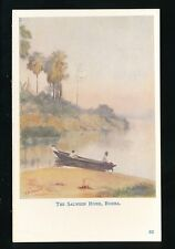 BURMA The Salween River artist F M Muriel signed c1900/10s? PPC