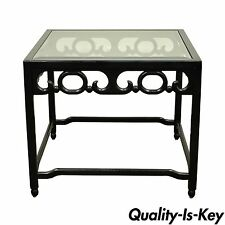 Vintage Asian Oriental Black Occasional Side Table James Mont Michael Taylor era
