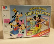 Mickey and Friends Light and Learn Board Game by Milton Bradley 1990's