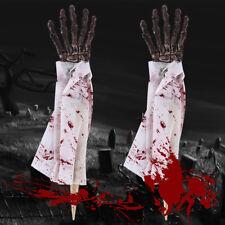 Halloween Skull Skeleton Human Hand Bone Scary Props Zombie Party Terror Adult