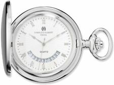 Charles Hubert Chrome-Finish White Dial Pocket Watch XWA4356