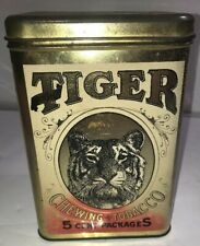 Cheinco Housewares Bright Tiger Chewing Tobacco 5 Cent Package Tin Canister Rare