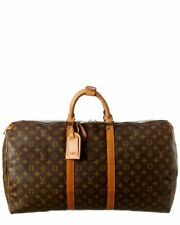 Louis Vuitton Monogram Canvas Keepall 55 (Authentic Pre-Owned) Women's