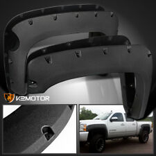 Rugged Texture 2007-2013 Chevy Silverado 1500 Short Bed Pocket Fender Flares