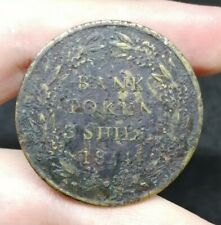 Great Britain George III 3 Shilling Bank Token 1814 Contemporary Forgery