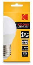 6 X KODAK LED GOLF BALL G45 BULB E27 6W/40W WARM GLOW (ENERGY CLASS A+)30415812