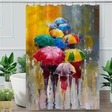 CafePress Pinup Girl And Umbrella; Vintage Shower Curtain 1325538080
