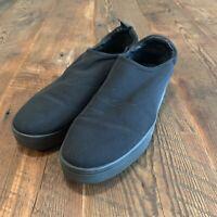 Eileen Fisher Women Black Stretch Mesh Platform Sneakers Slip On Loafers Size 9