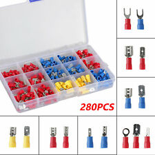 280pcs Assorted Crimp Spade Terminal Insulated Electrical Wire Connector Kit Set