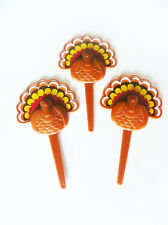Thanksgiving Turkey Cupcake Picks Cake Toppers Decorations 24