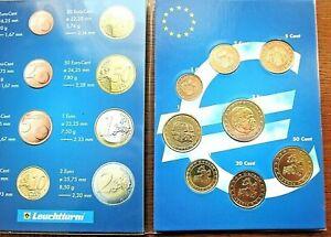 TRES BELLE SERIE 8 PIECES 1CT A 2 EURO/MONACO 2001/ DU STARTER KIT/ ENVOI ASSURE