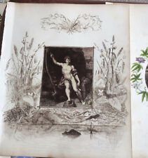 More details for victorian album leaves paintings sketches hand-written text. 25 + pages