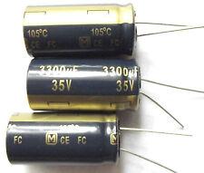 3300uf 35v 105c basso ESR Taglia 18mmx35.5mm Panasonic EEUFC 1v332 x 3 PEZZI