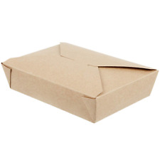 49 Oz 8.5 x 6 x 2 Disposable Paper Take Out Food Containers, Microwaveble Kraft