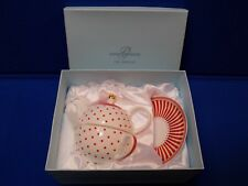 Grace's Teaware Polka Dots Red Gold Individual Tea Pot With Lid Cup Saucer Set