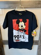 Disney 90 Years Of Mickey Mouse Men's Black T-shirt NWT Size M
