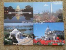 .POSTCARD. NATIONAL MALL EDITION WASHINGTON.D.C.WITH 4 VIEWS..STAMP 50c