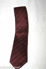 Original 70er Jahre reine Seide Vintage Retro Schlips Binder Krawatte Rot Breit